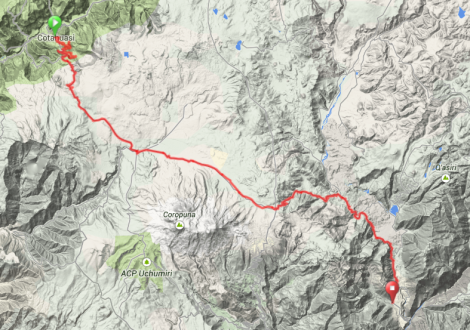 Map - Cotahuasi to Ayo