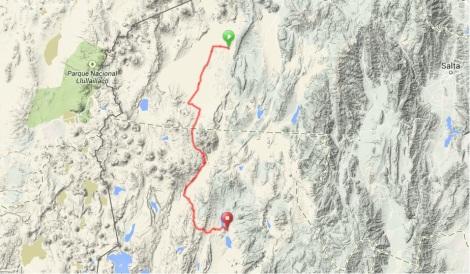 Tolar Grande to Antofagasta Route